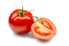 Tomatoes isolated on white background Royalty Free Stock Images
