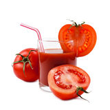 Tomatoes juice Royalty Free Stock Images