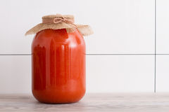Tomatoes juice canned Royalty Free Stock Image