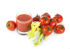 Tomatoes juice Royalty Free Stock Photo