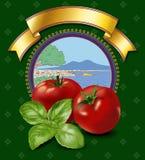 Tomatoes label Stock Photos