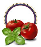 Tomatoes label Royalty Free Stock Images