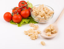 Tomatoes, leaf and paste isolated on a white Royalty Free Stock Image