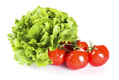 Tomatoes and lettuce Royalty Free Stock Images