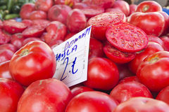 Tomatoes on market Royalty Free Stock Images