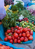 Tomatoes, Market Day at Pisac, Peru. The market at Pisac, in the Urubamba Valley near Cusco, features a wide variety of fruits and vegetables Royalty Free Stock Photo