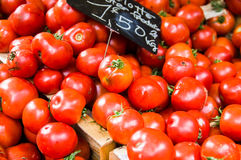 Tomatoes on market in Provence. Red Tomatoes on market in Provence, France Royalty Free Stock Photo