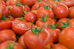 Tomatoes on the market Stock Photography