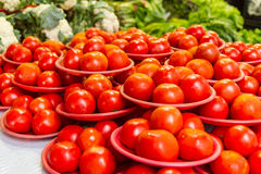 Tomatoes at a market Royalty Free Stock Photo