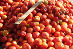 Tomatoes. On a market stall in Rajasthan Royalty Free Stock Photo