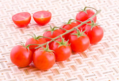 Tomatoes on a mat Royalty Free Stock Photography