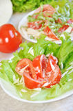 Tomatoes with mayonnaise Royalty Free Stock Photography