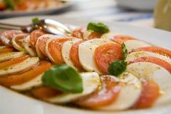 Tomatoes and Mozarella Stock Photos