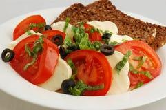 Tomatoes with mozzarela Stock Image