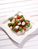 Tomatoes with mozzarella Royalty Free Stock Image