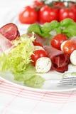 Tomatoes and mozzarella Royalty Free Stock Photos