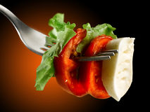Tomatoes mozzarella and salad Royalty Free Stock Image