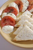 Tomatoes, Mozzarella, Toast Royalty Free Stock Images