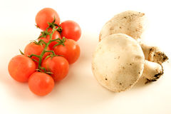 Tomatoes and mushroom Stock Photo