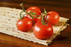 Tomatoes on a napkin Stock Photography