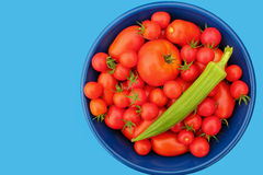 Tomatoes and okra Stock Image