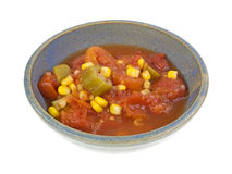 Tomatoes Okra Corn In Bowl Side Stock Photography