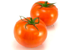 Tomatoes. Omatoes on a white background Stock Photo