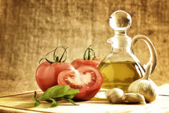 Tomatoes onion, garlic, pepper, tomatoes Royalty Free Stock Photos