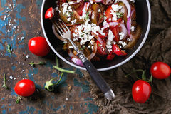 Tomatoes and onion salad Royalty Free Stock Photos
