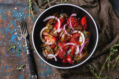 Tomatoes and onion salad Stock Photography