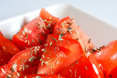 Tomatoes and oregano 2 Stock Photography