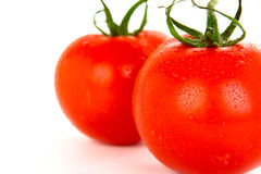 Tomatoes over white background. Royalty Free Stock Photos