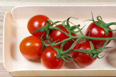 Tomatoes in the packing box Royalty Free Stock Photography