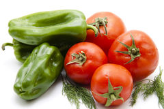 Tomatoes with paprika and dill Stock Photos