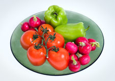 Tomatoes, paprika and radishes Royalty Free Stock Photography