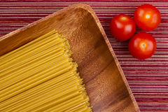 Tomatoes and Pasta Royalty Free Stock Images