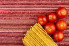 Tomatoes and Pasta Stock Image