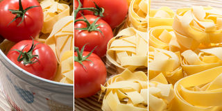Tomatoes and Pasta - Multiple Images Stock Photos
