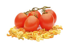 Tomatoes and pasta Stock Photos
