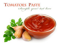 Tomatoes paste Stock Photography