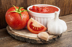 Tomatoes paste with spices Stock Image