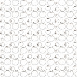 Tomatoes pattern Royalty Free Stock Image