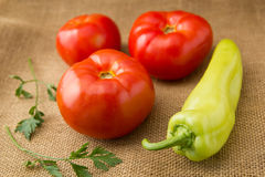 Tomatoes and peper Royalty Free Stock Photography