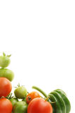 Tomatoes and pepper frame Royalty Free Stock Image