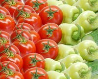 Tomatoes and peppers Royalty Free Stock Images