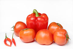 Tomatoes and peppers Royalty Free Stock Image