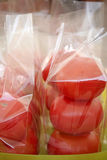 Tomatoes in plastic bag Stock Photography