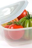 Tomatoes In A Plastic Box Stock Photography