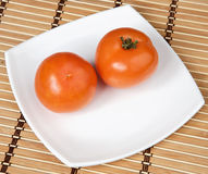 Tomatoes in a plate Royalty Free Stock Photography