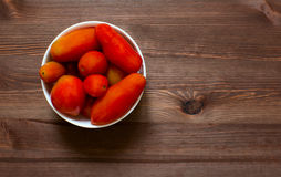 Tomatoes in a plate. Royalty Free Stock Photos